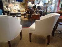 Pair of Mid Century Modern Tub Chairs on Castors at 1stdibs