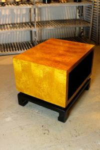 Mid Century cube form end table For Sale at 1stdibs