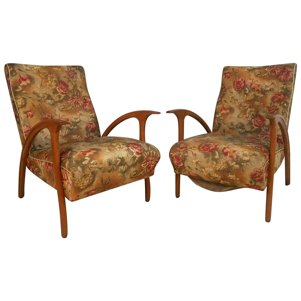 Unique Armchairs Unique Pair Of Mid Century Modern Paolo Buffa Style