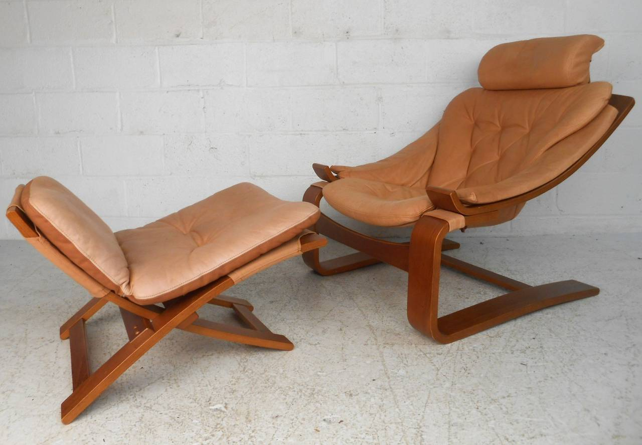 Fullsize Of Leather Chair Mid Century