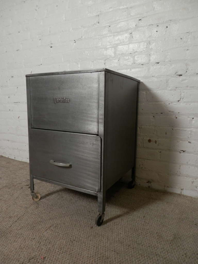 Rolling Filing Cabinets Mid Century Rollaway Mobile File Cabinet By Vertiflex