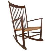 Hans Wegner J-16 Style Mid-Century Rocking Chair For Sale ...