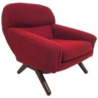 Unique Midcentury Lounge Chair at 1stdibs