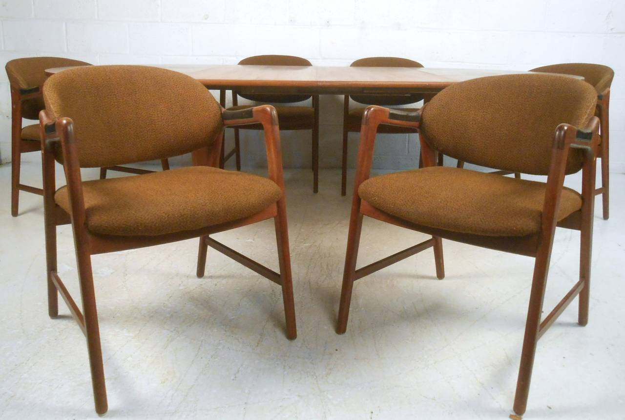Modern Dining Set Mid Century Modern Teak Dining Set With Westnofa Chairs