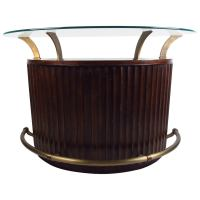 Mid-Century Modern Glass-Top Bar by Universal Furniture ...