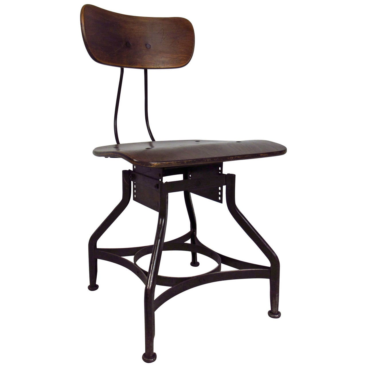 Industrial Desk Chair By Uhl Steel For Toledo Metal Furniture Company At 1stdibs
