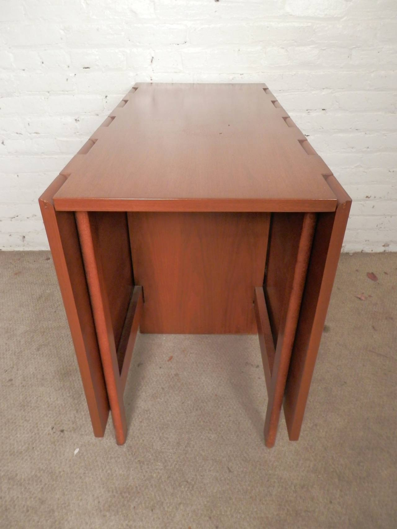 Modern Drop Leaf Tables Small Spaces Mid Century Drop Leaf Table By George Nelson For Sale At
