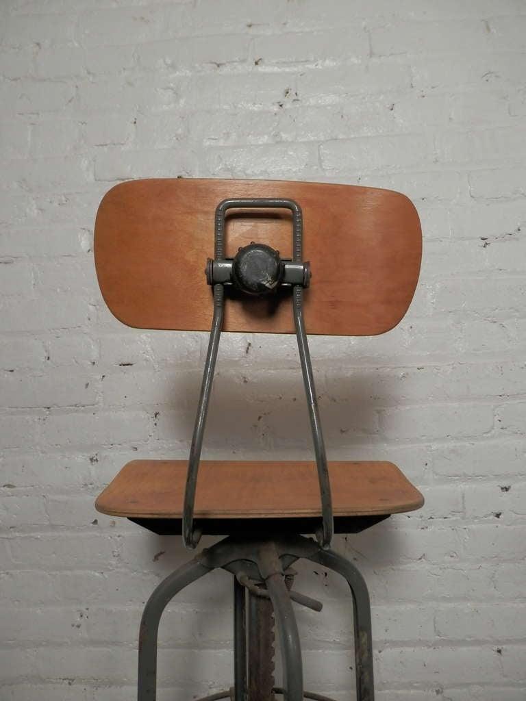 Pair of vintage drafting stools by charles bruning at 1stdibs