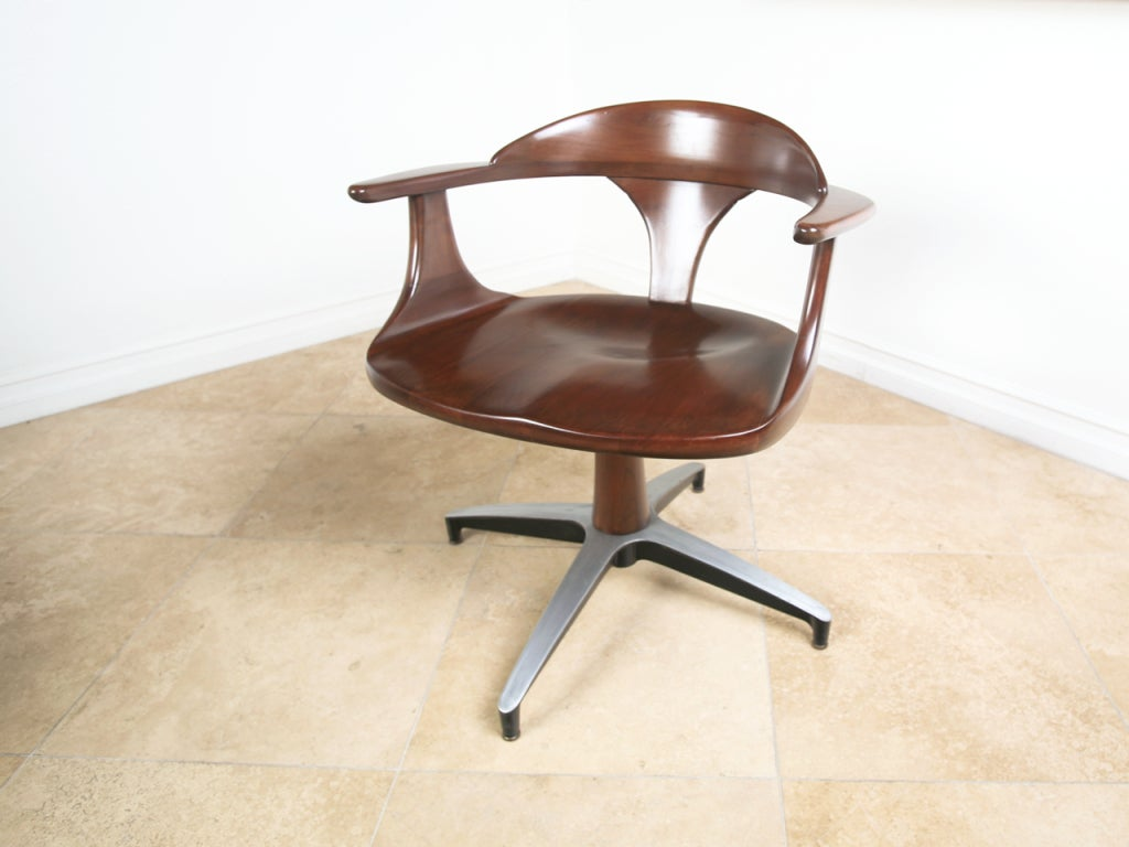 Solid Wood Extendable Dining Table Mid Century Solid Wood Dining Table And Swivel Chairs At