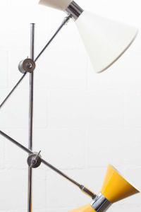Stilnovo Style Double Headed Floor Lamp For Sale at 1stdibs