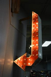 Vintage Double-Sided Light Up Arrow at 1stdibs