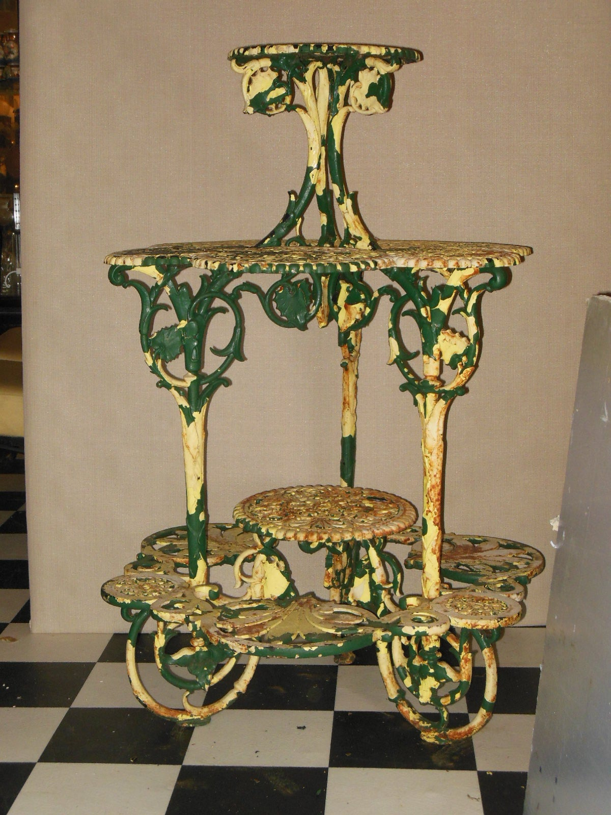 Green Metal Plant Stand Antique Plant Stand Cast Iron Quotcoalbrookdale Quot For Sale At
