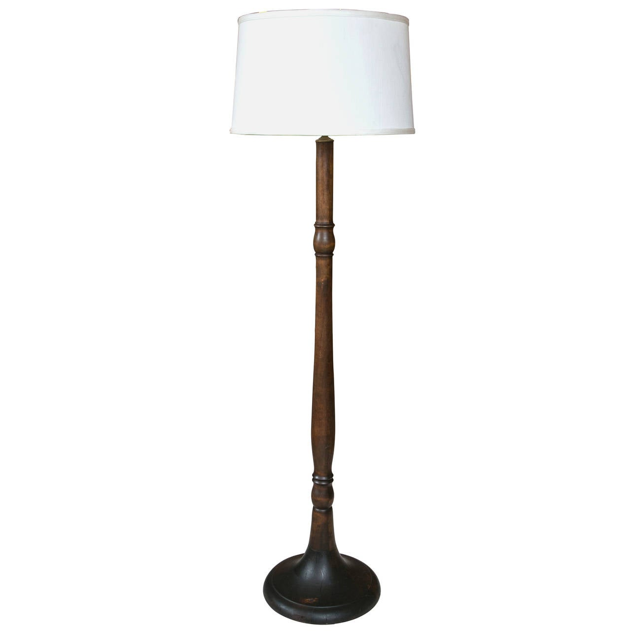 Floor Lamp Wooden Large Turned Wood Floor Lamp At 1stdibs