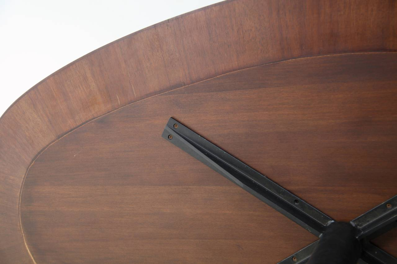 Oval Italian Dining Table With Wooden Top For Sale At 1stdibs