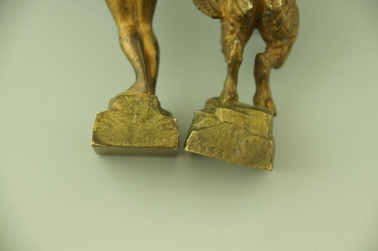 A Pair Of Naughty Vienna Bronzes Of A Nymph And A Satyr