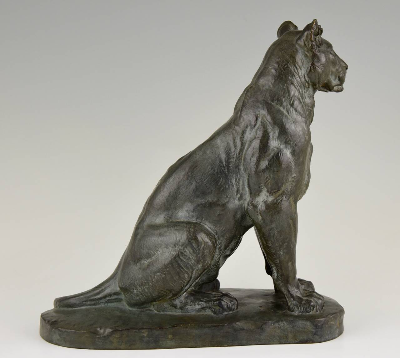 Panther Statue For Sale French Bronze Panther Sculpture By Charles Valton 1910 At