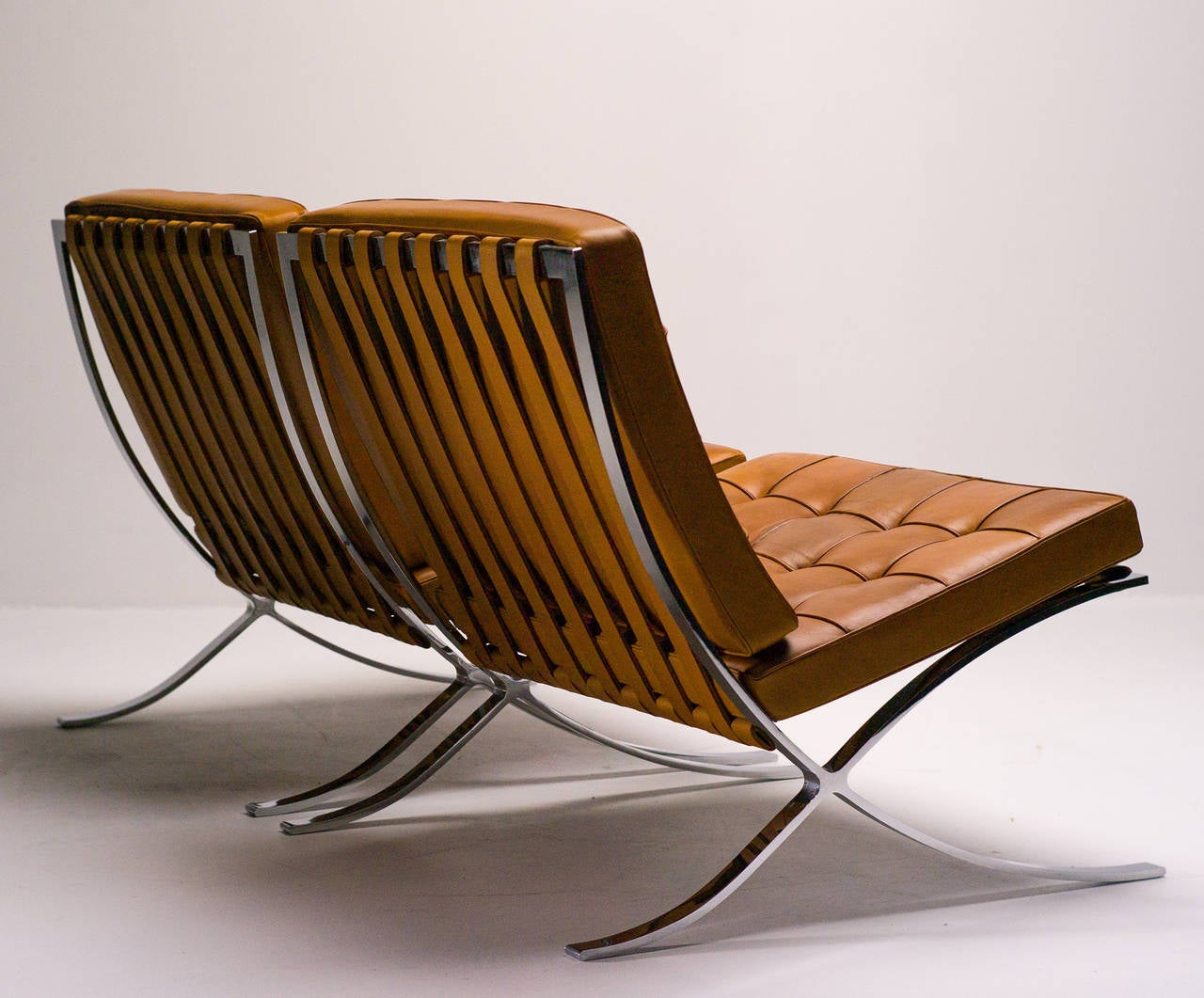 Barcelona Sessel Knoll Barcelona Chairs In Saddle Leather By Mies Van Der Rohe For Knoll International