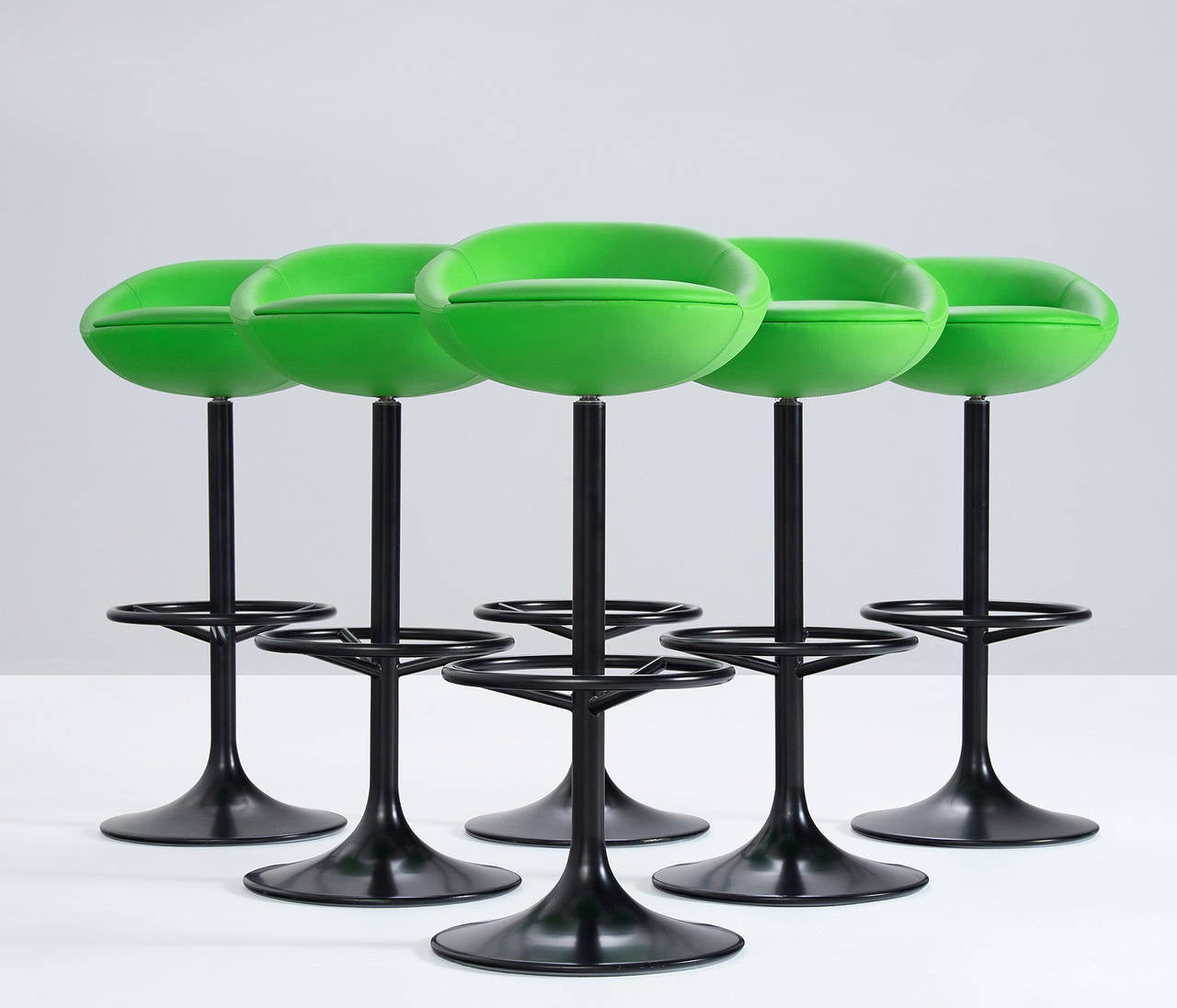 Swedish Bar Stools Modern Swivel Bar Stools Sweden 1970s For Sale At 1stdibs