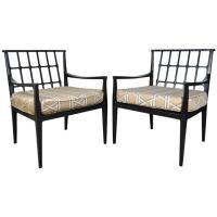 Ebonized Vintage Mid Century Danish Modern Lounge Chairs ...