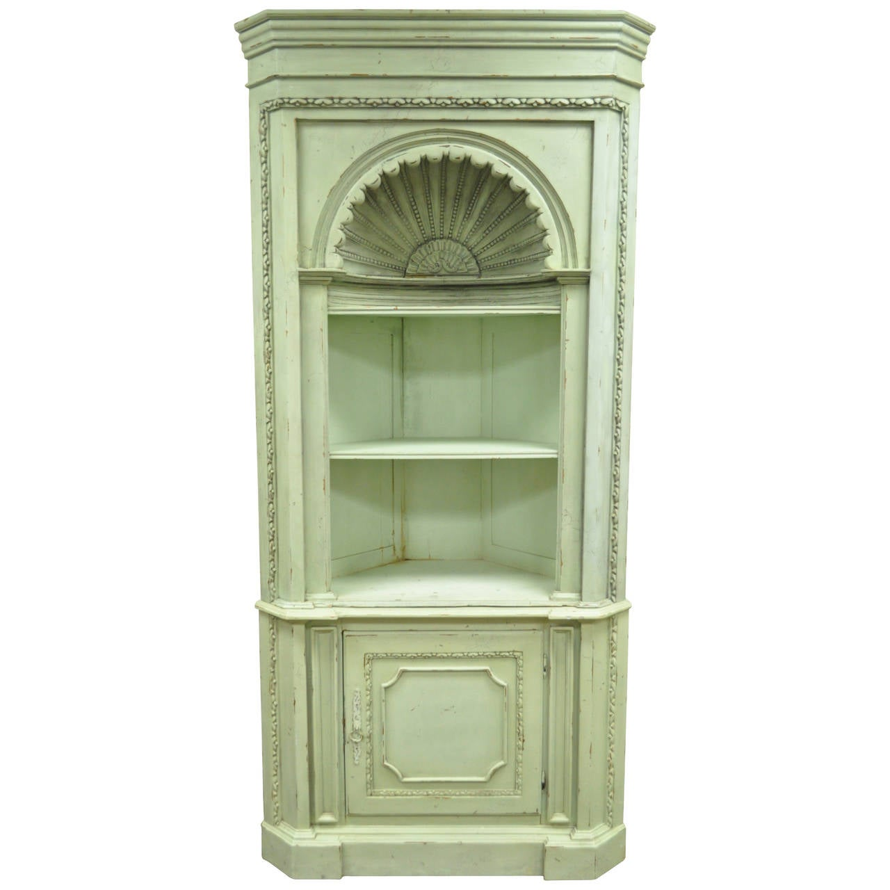 French Country Style Pine Corner Cabinets ...