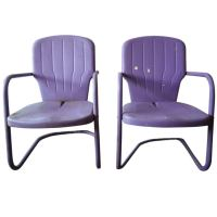 purple metal patio chairs at 1stdibs