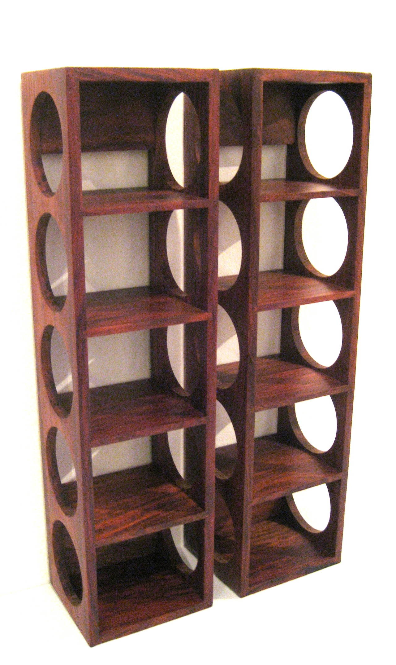 Modern Wine Rack Furniture Danish Modern Rosewood Set Of Wall Mounted Wine Racks At