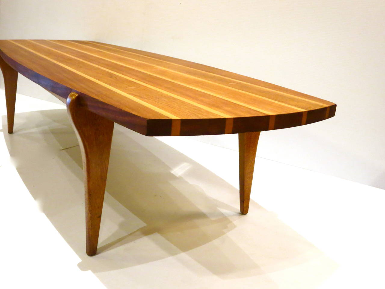 Surfboard Tables For Sale Mid Century Modern Rare Surfboard Coffee Table Brown