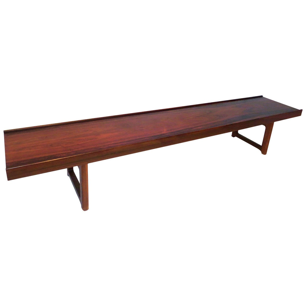 Low Tables For Sale Long Low Profile Bench Or Coffee Table In Rosewood