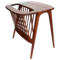 American Mid-Century Solid Walnut Cocktail Table and ...