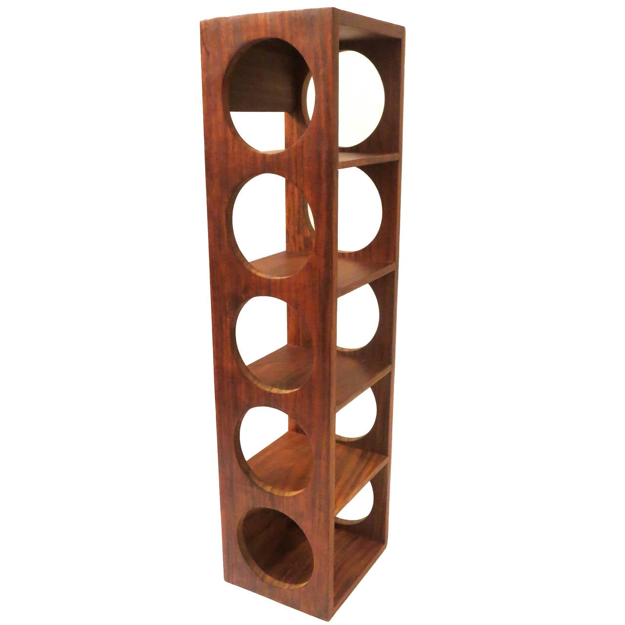 Modern Wine Rack Wall Mount Danish Modern Five Bottle Capacity Solid Rosewood Wall
