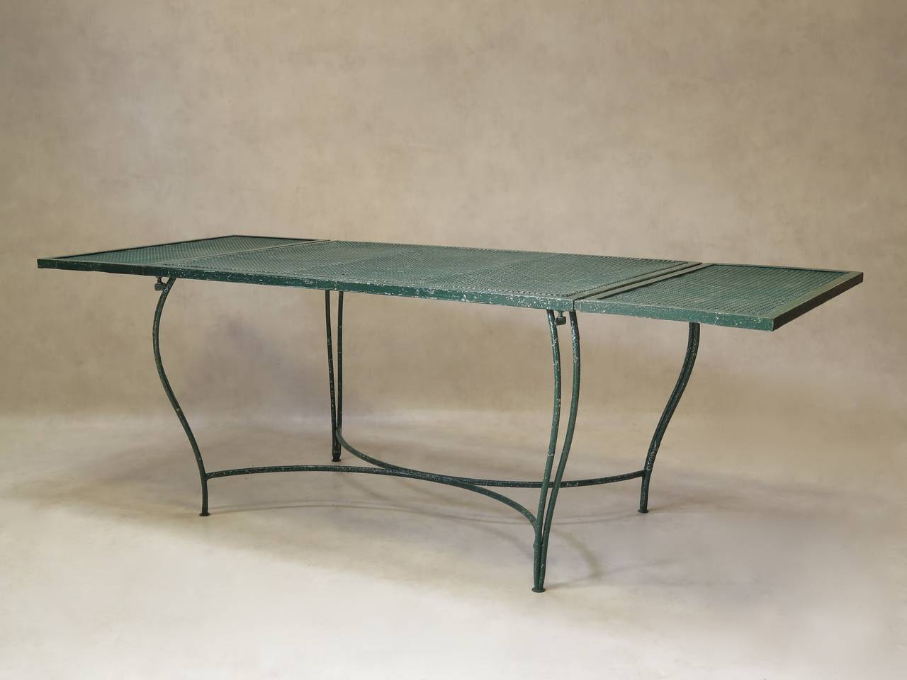 Wrought Iron Garden Dining Table France 1950s For Sale
