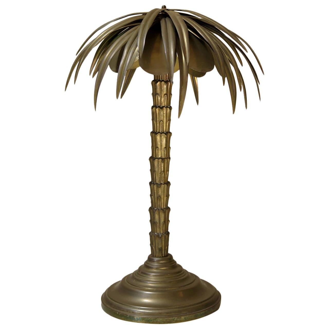 Heavy Brass Palm Tree Lamp France Circa 1900s At 1stdibs