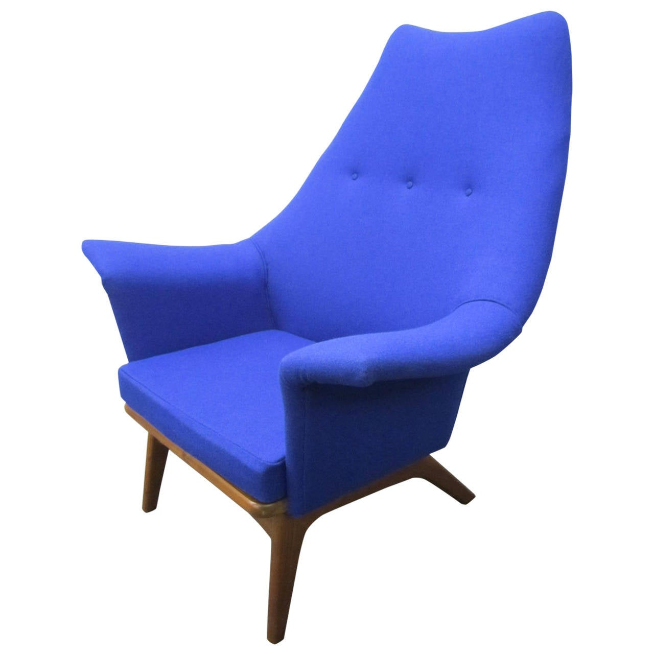 Excellent Adrian Pearsall Sculptural Walnut Wingback