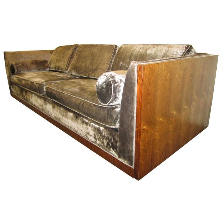 Rosewood case sofa - Milo Baughman at 1stdibs