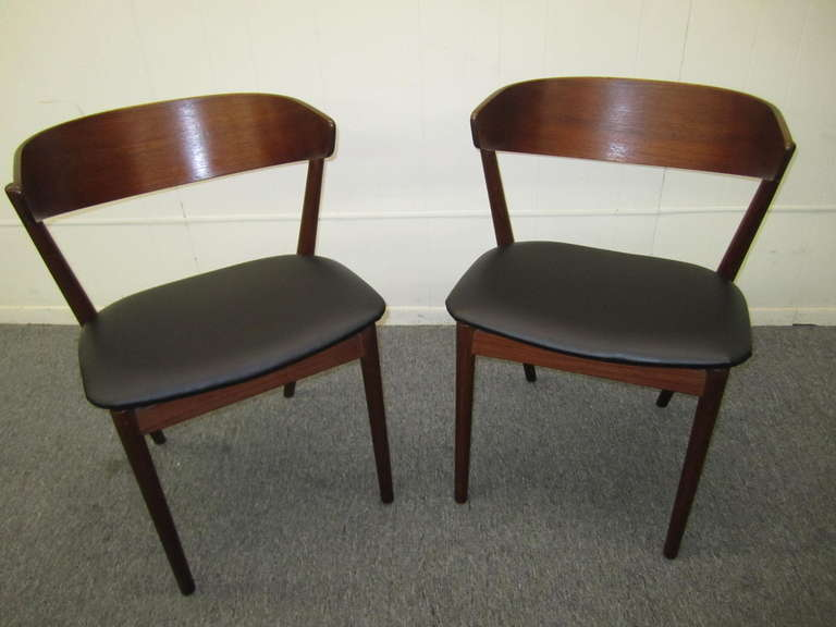 Excellent Pair Of Danish Modern Bentwood Teak Dining