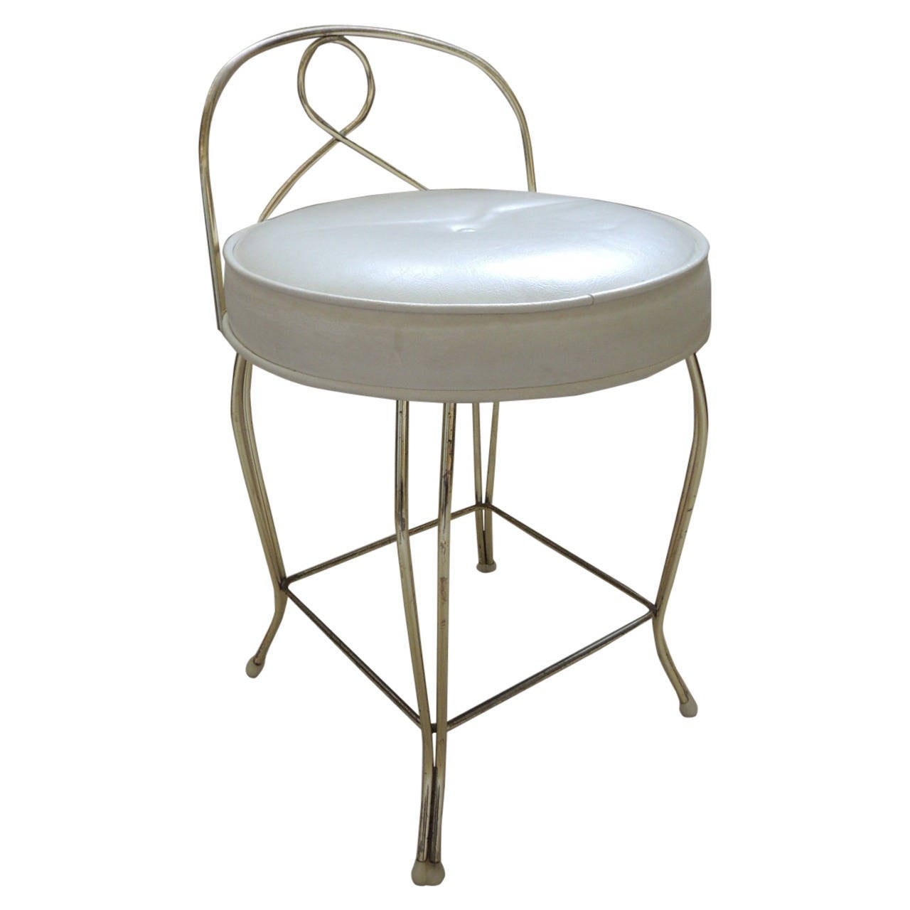 Vanity Chair For Sale Close Out Sale Vintage Round Brass Art Deco Vanity Stool