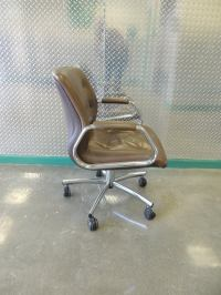 MId-Century Arm Office Chair with Casters at 1stdibs