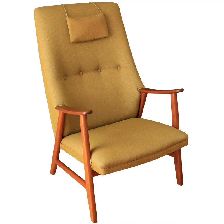 Vintage Danish Modern Lounge Chair At 1stdibs