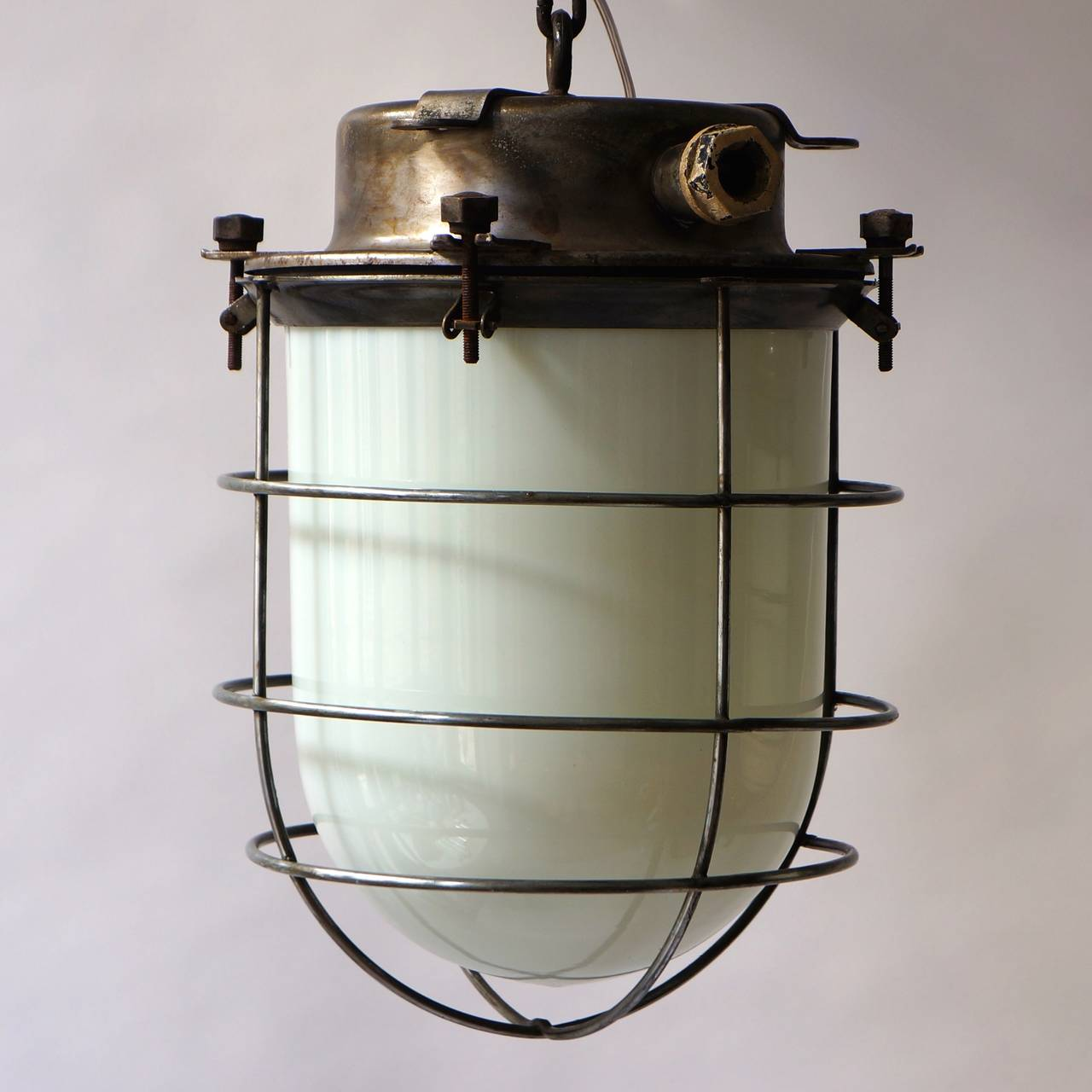 Industrial Lamps For Sale Four Vintage Industrial Hanging Lamps For Sale At 1stdibs