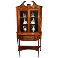 Antique Edwardian Inlaid Marquetry Cabinet Circa 1880 at ...