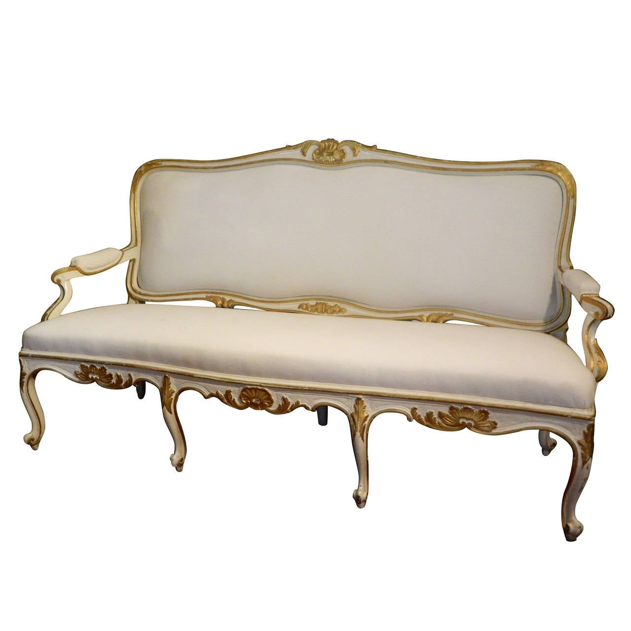 Canape Sofa Gustavian Painted And Parcel Gilt Canape Or Sofa 19th