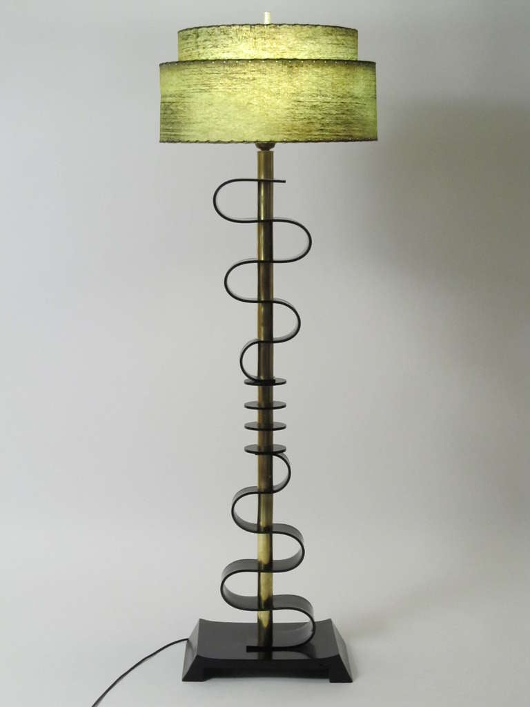 Mid Century Modern Floor Lamp Mid Century Acrylic And Brass Floor Lamp At 1stdibs