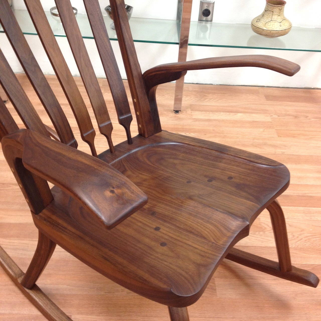 Beautiful Rocking Chairs Beautiful Handcrafted Studio Rocking Chair By California