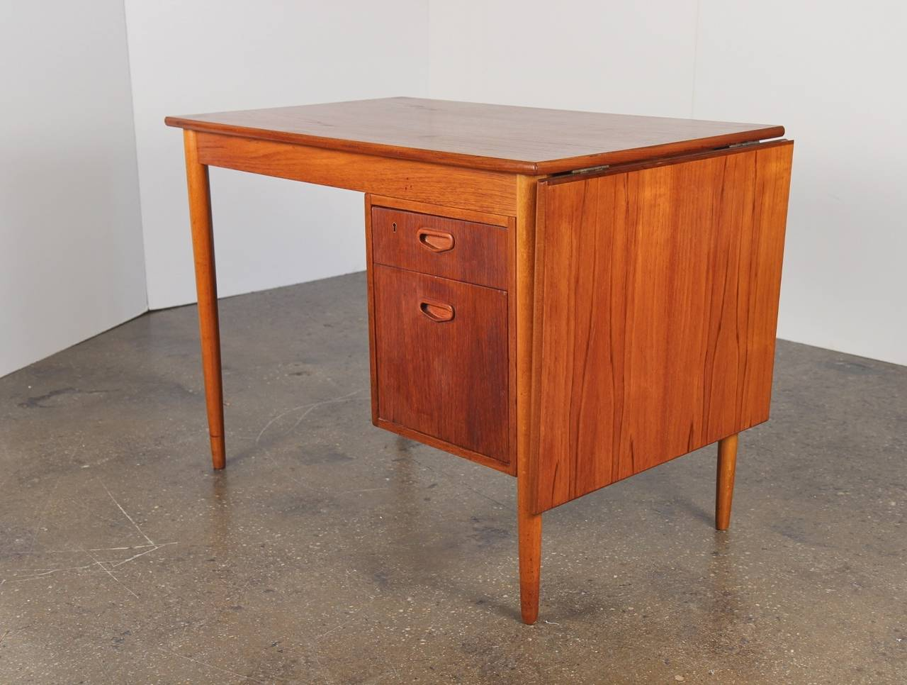 Modern Drop Leaf Tables Small Spaces Danish Modern Teak Drop Leaf Desk At 1stdibs