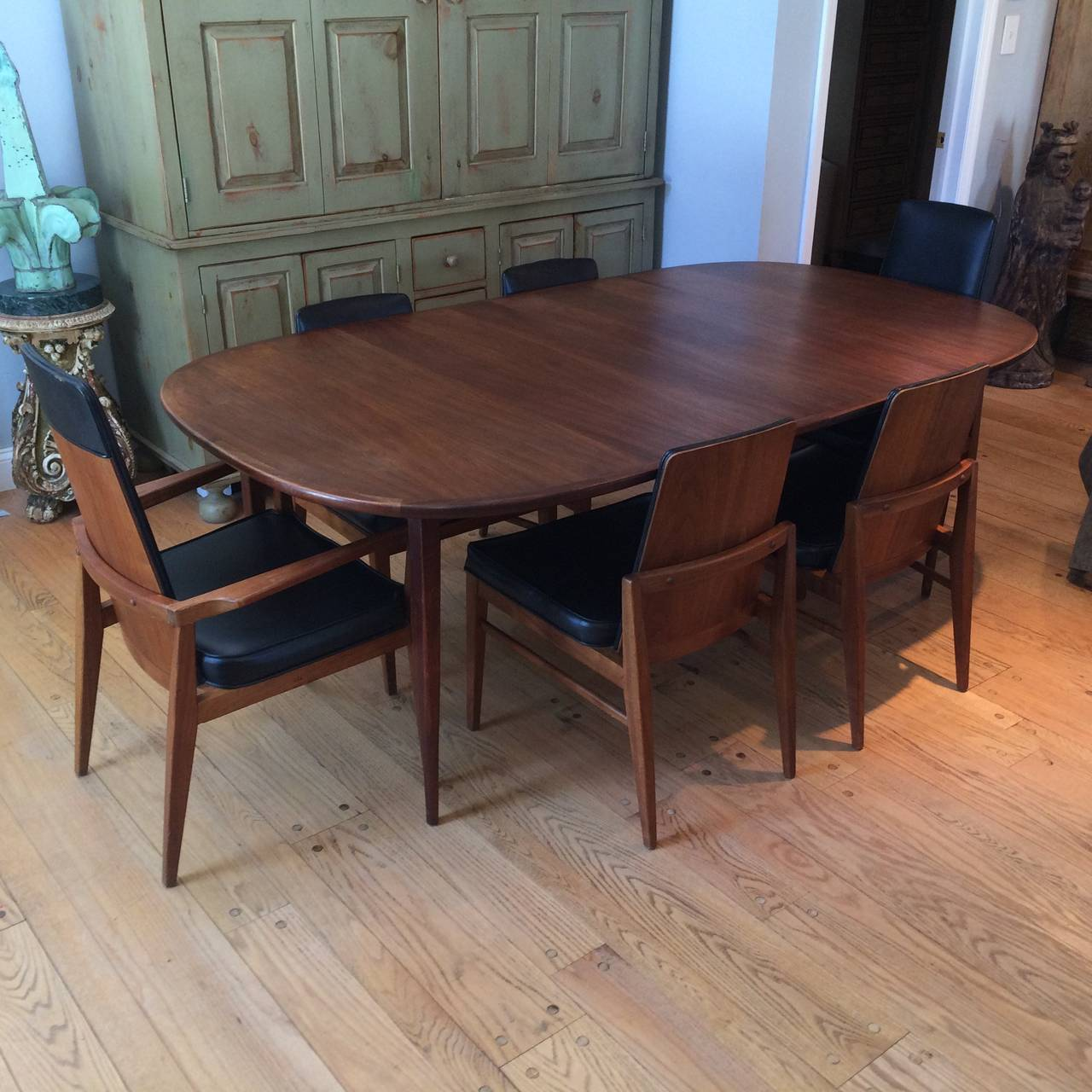 Modern Dining Room Furniture Mid Century Modern Walnut Dining Set