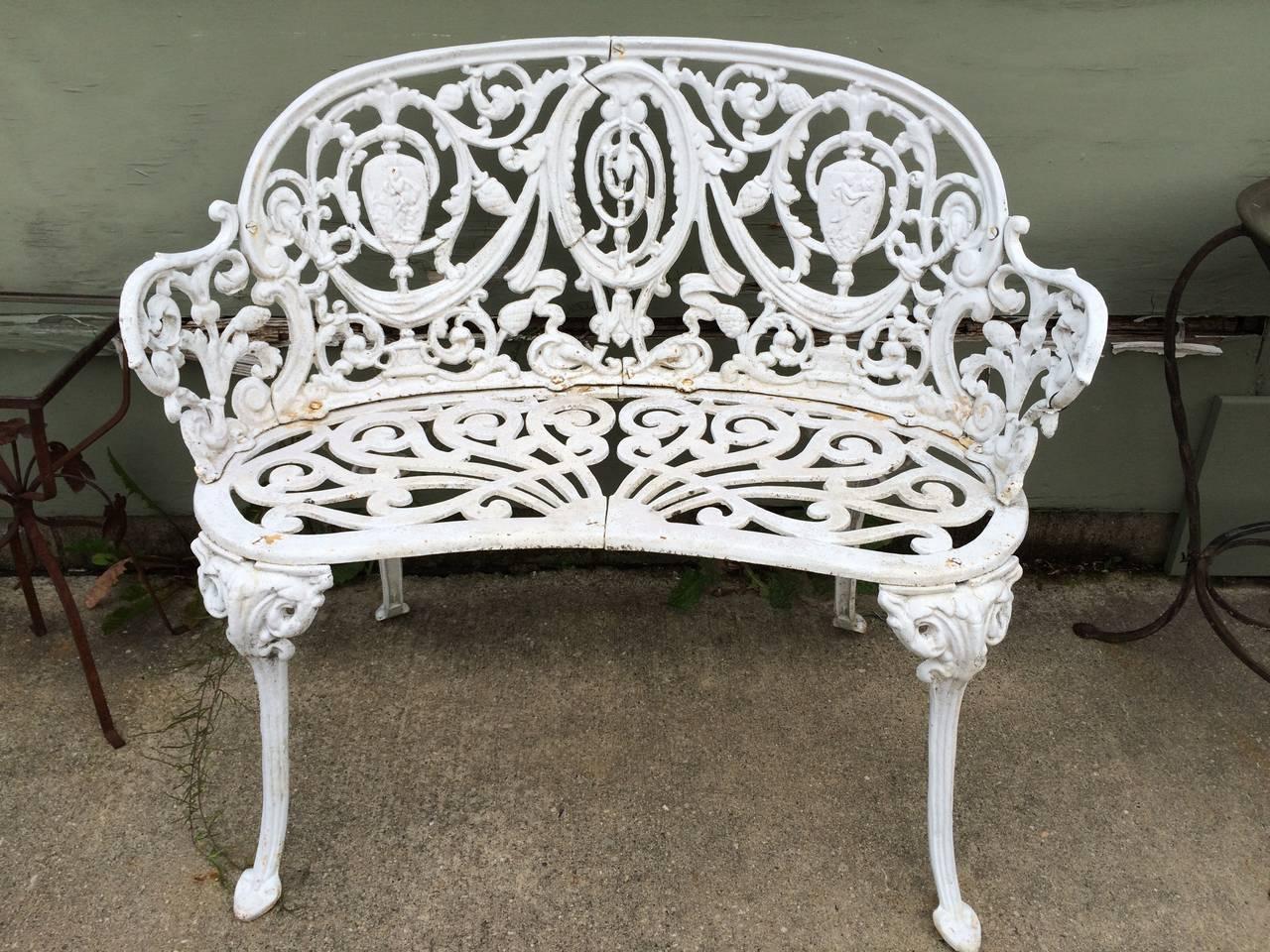 Vintage Cast Iron Garden Bench At 1stdibs