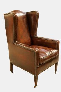Hepplewhite Revival Wing Chair at 1stdibs