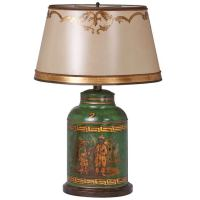 19th Century English Large Chinoiserie Tea Canister Lamp ...