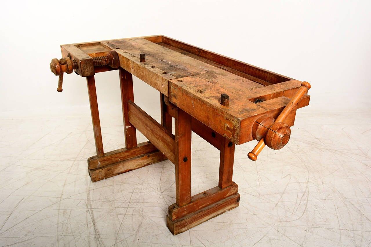 Antique Vintage Carpenter39s Bench Table At 1stdibs