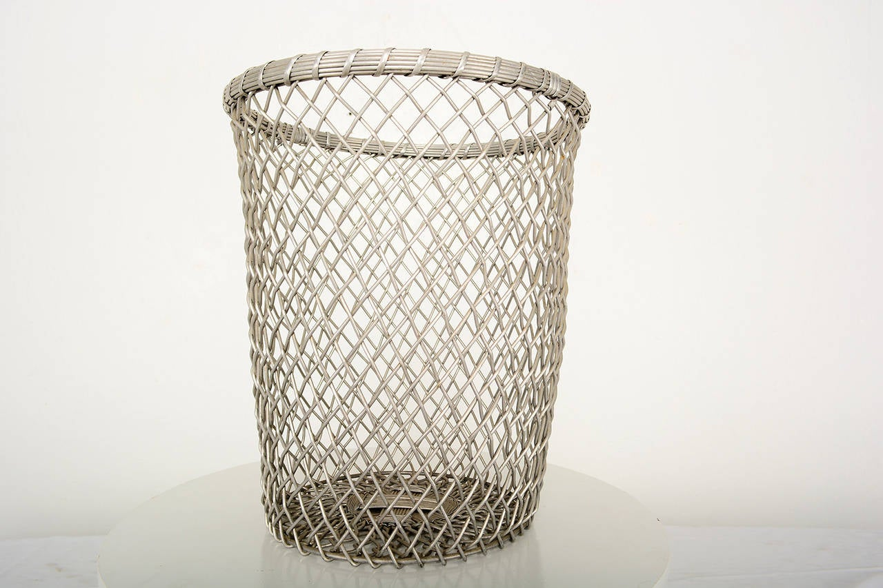 Decorative Metal Waste Baskets Aluminum Decorative Waste Basket At 1stdibs